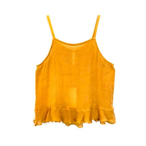 Cool Change Saffron Cotton Voile Square Neck Cami- Front