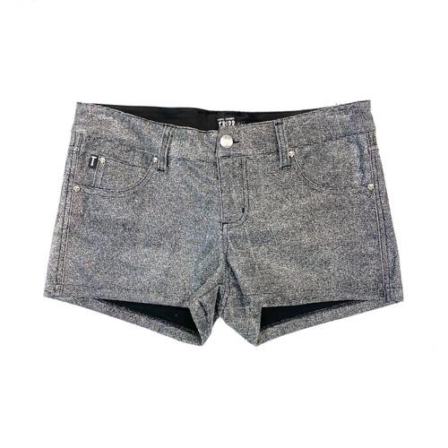 Tripp NYC Silver Hot Pants- Front