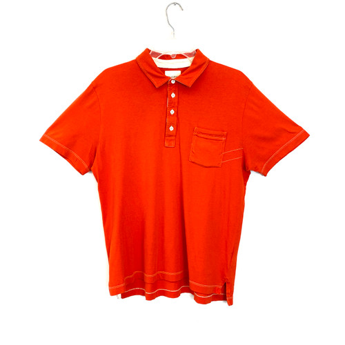Billy Reid Flame Polo Shirt- Front