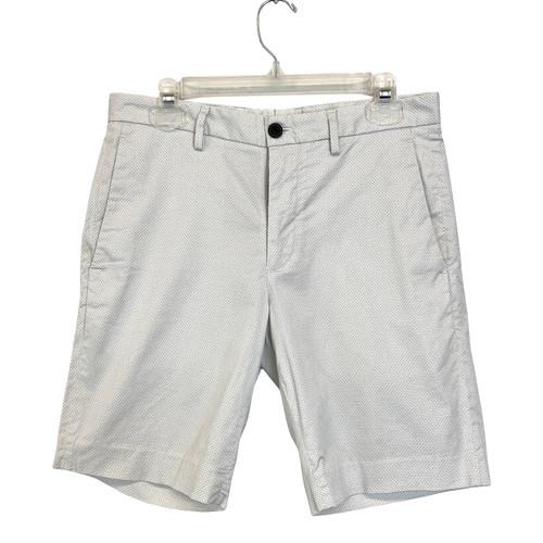 Theory Printed Slim Shorts- Front