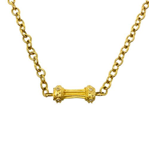 Chain Link Column Necklace- Detail