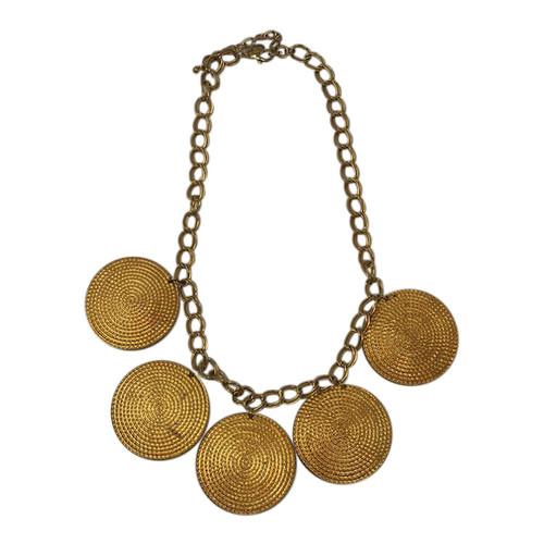 Joan Rivers Gold Medallion Necklace- Front