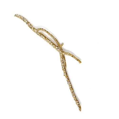 Rhinestone Encrusted Twig Brooch- Front