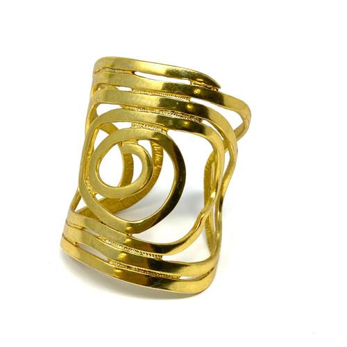 Modernist Open Spiral Cuff- Thumbnail