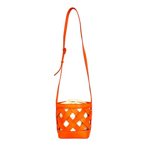 Tangerine Basket Bag- Front