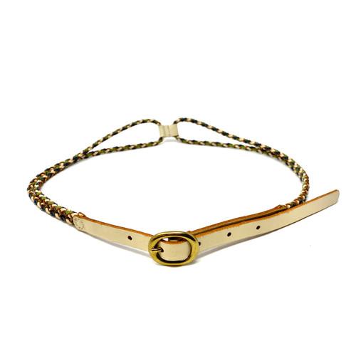 Skinny Double Braid Belt- Front