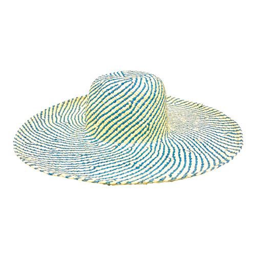 Hat Attack Pinwheel Striped Sun Hat- Front