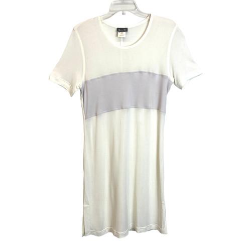 Kristensen du Nord Rugby Stripe Mesh T-Shirt Dress- Front