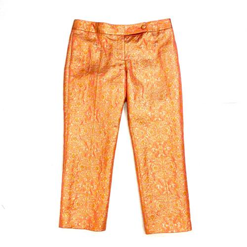 J. Crew Brocade Crop Pants- Front