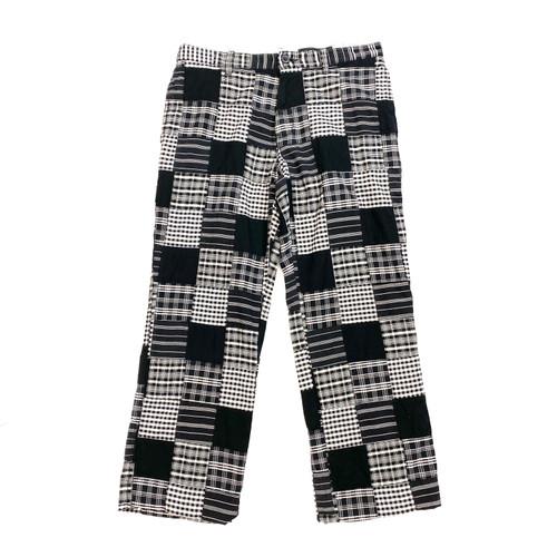 Club Monacro Monochrome Madras Pants- Front
