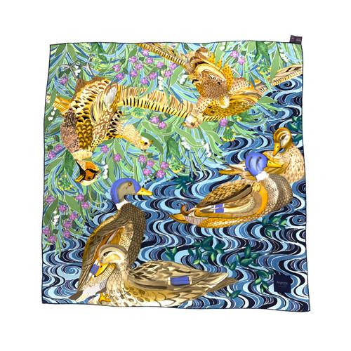 Asprey Mallard Pond Scarf- Thumbnail