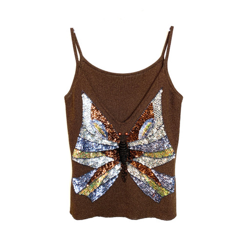 Beaded Butterfly 00's Tank- Front