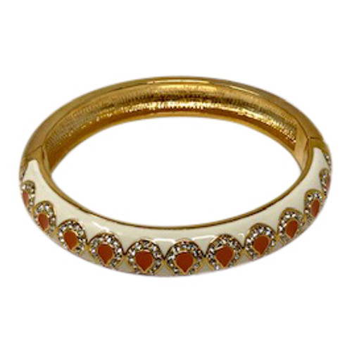 Joan Rivers Metal and Enamel Two Tone Bangle