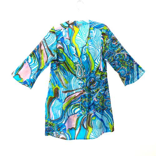 Desiree Embellished Silk Tunic- Front