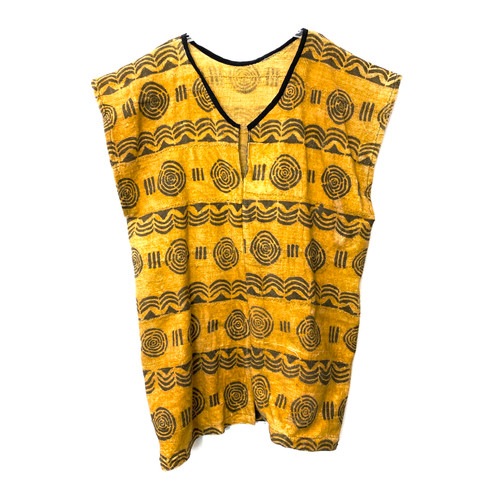 African Mud Cloth Caftan- Front