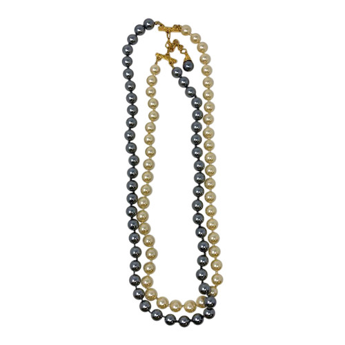Joan Rivers Dual Pearl Strands Necklace- Front