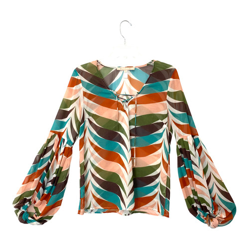Hutch Sheer Printed Tunic- Front