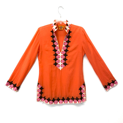 Tory Burch Embroidered Trim Tunic- Front