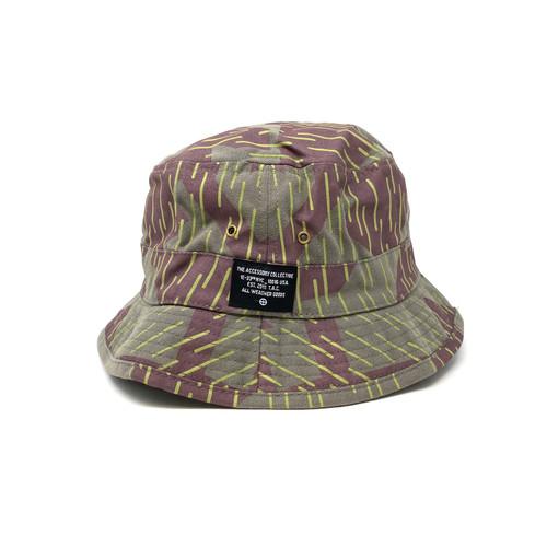 Dash Pattern Bucket Hat- Front