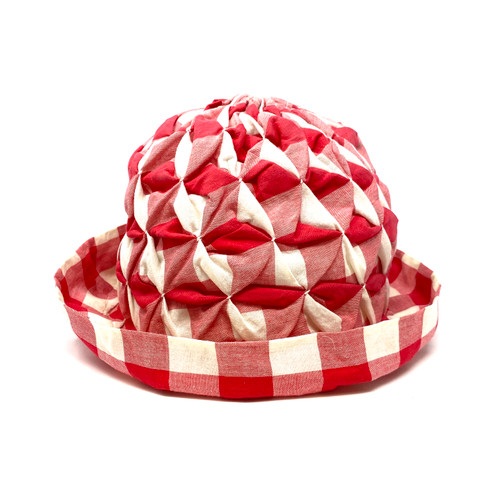 Playful Gingham Bucket Hat- Front