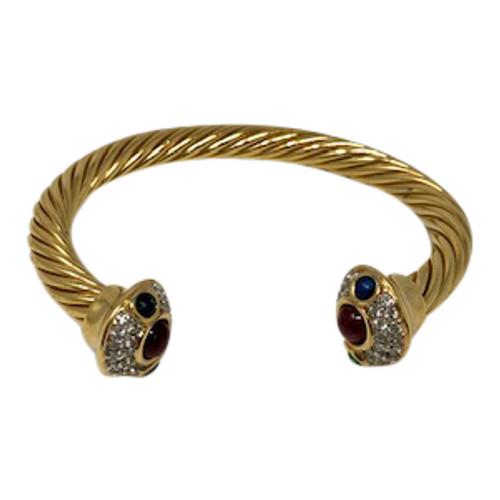 Joan Rivers Twisted Rope Cuff- Front