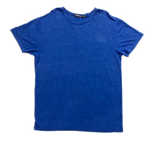 T by Alexander Wang Linen Indigo T-Shirt - Thumbnail