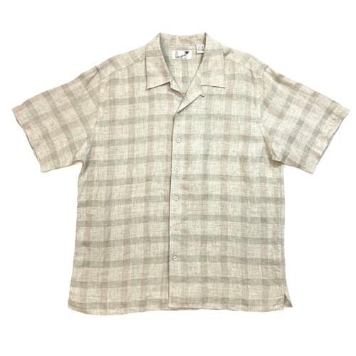 Havana Shirt Co. Gingham Linen Button Down - Thumbnail