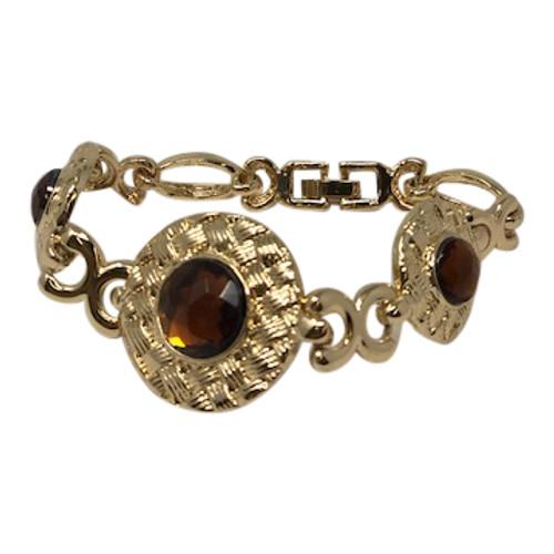 Joan Rivers Linked Medallion Bracelet-Front
