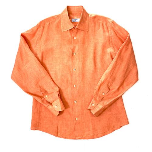 Malo for Barneys New York Melon Linen Shirt -Thumbnail