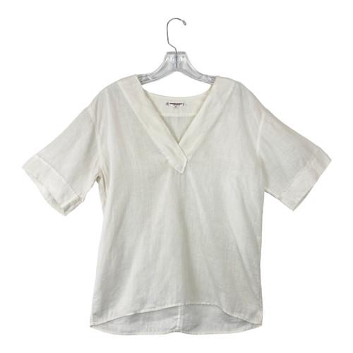 Saint Laurent Drop Sleeve Linen T-Shirt - Thumbnail