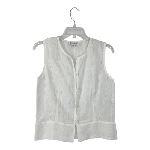 Tamotsu Embroidered Button Front Top - Thumbnail