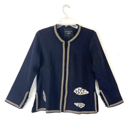 Shop Latitude x Deszo Embroidered Shells Linen Jacket - Thumbnail