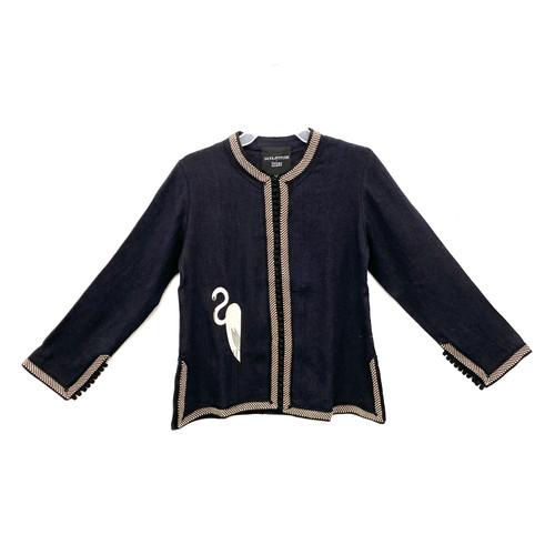Shop Latitude x Deszo Embroidered Heron Linen Jacket - Thumbnail