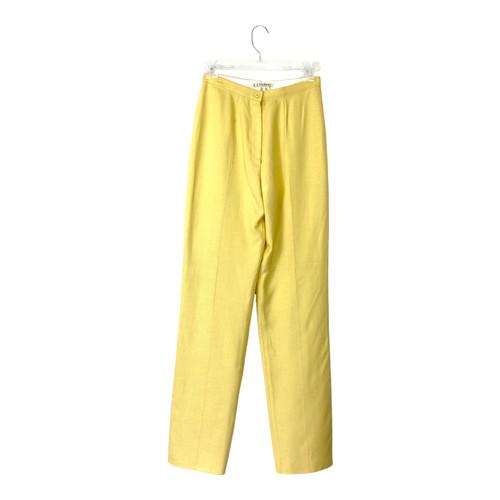 Vintage Butter Yellow Linen Pants - Thumbnail