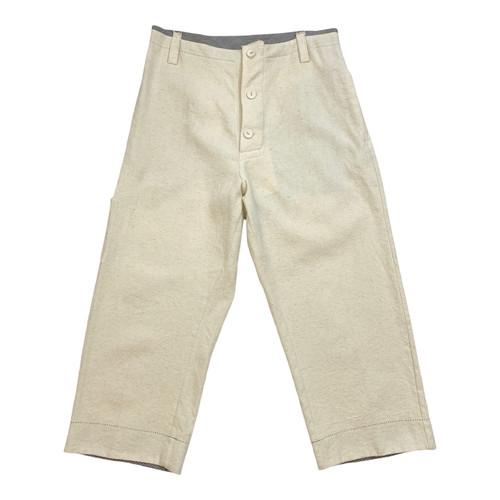 Forme d'Expression Drop Crotch Linen Sailor Pants - Thumbnail