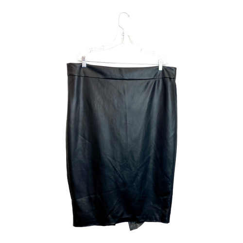 Universal Standard Leather Pencil Skirt- Front