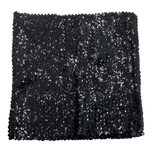 All Black Sequin Tube Top- Front