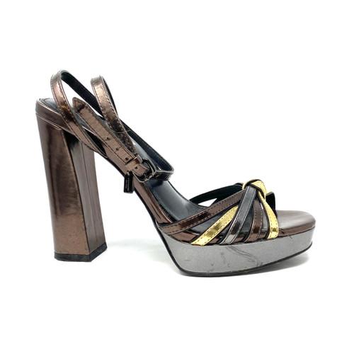 Coach Metallic Disco Sandals - Thumbnail