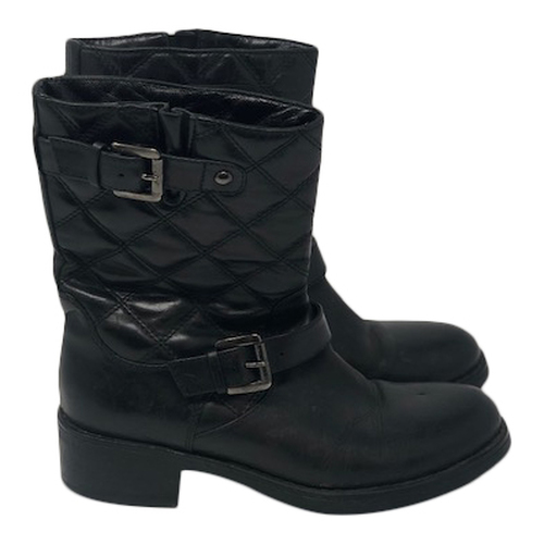 Aquatalia Quilted Motorcycle Boots
