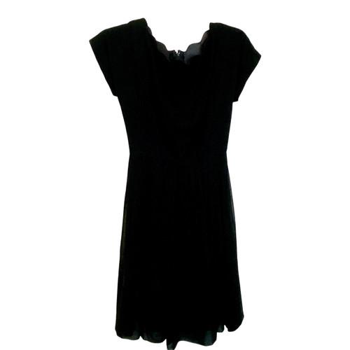 Vintage Scallop Neck Skater Dress- Front