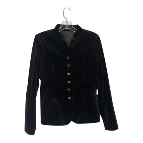 Theory Velvet Stand Collar Blazer-Front