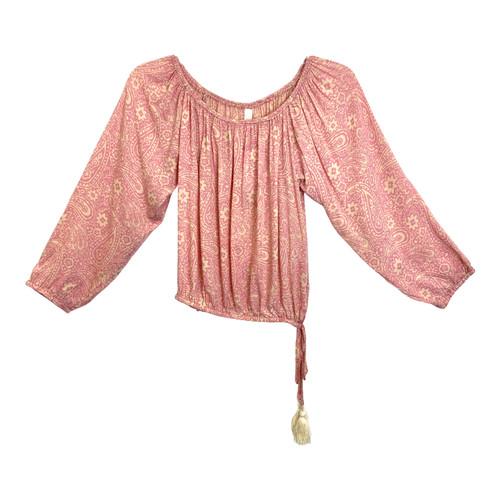 Cool Change Pink 3/4 Sleeve Blouse - Thumbnail