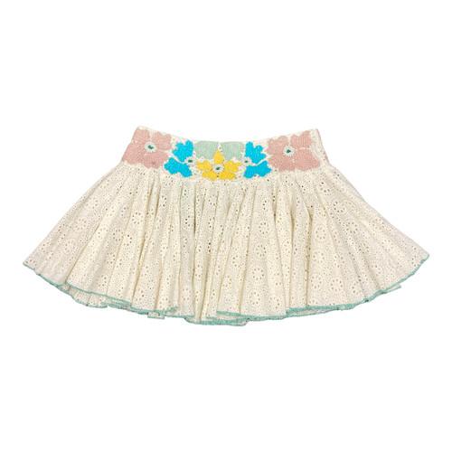 Area Stars Embroidered Eyelet Skirt - Thumbnail
