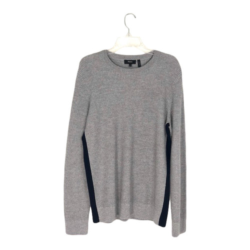 Theory Contrast Sides Waffle Sweater-Front