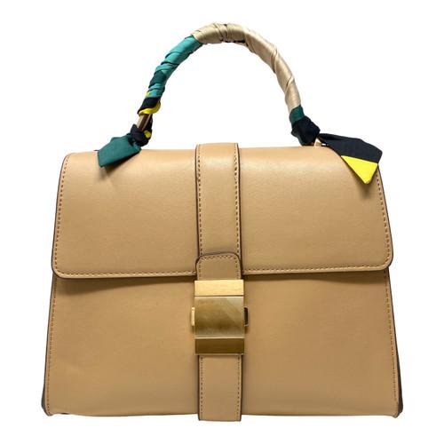 Buckle Scarf Decor Handbag - Thumbnail