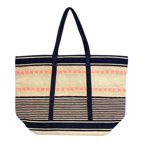 Colorful Textured Tote Bag - Thumbnail