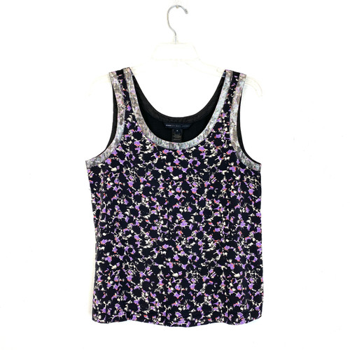 Marc by Marc Jacobs Silver Trimmed Printed Tank- Front