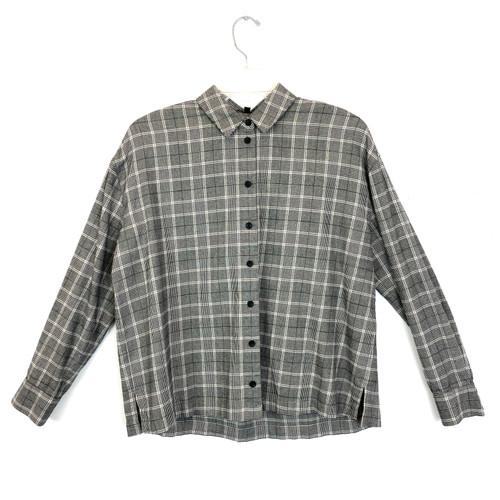Madewell Mini Collar Checked Shirt- Front