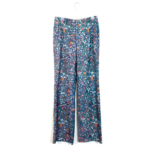 Peruvian Connection Exotic Bird Printed Pants- Front