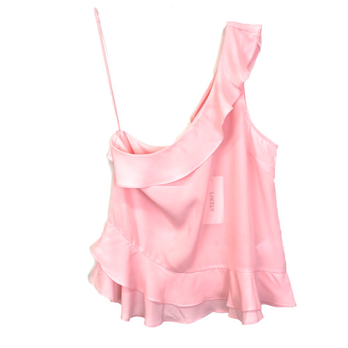 Likely One Shoulder Ruffled Top- Front
